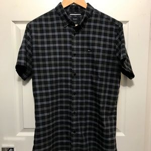 RVCA slim fit button down shirt